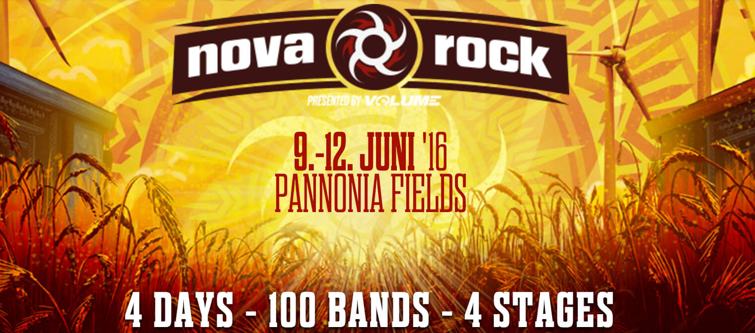 Nova Rock 2016: mega band billing at Pannonia Fields II - APES METAL
